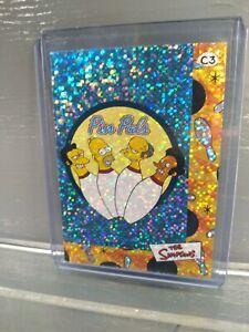 2000 Artbox The Simpsons trading cards rare prizm card Pin Pals team #C3
