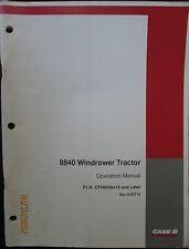CASE - IH 8840 Windrower Tractor Operator`s Manual Factory Original Revised 1998