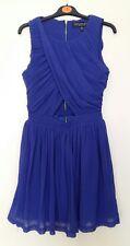 Topshop blue/purple cut out dress - size 8