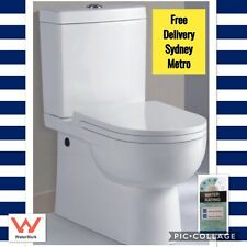 Back to Wall Toilet Suite-with Soft Close Seat-FREE POSTAGE *SYD METRO only