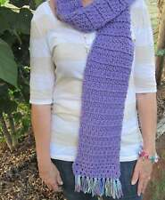 Crochet, Crochet Scarf, Scarf, Winter, Purple Scarf, Knitted Scarf, Handmade Kni
