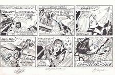 Spider-Man Sunday Strip 7/19/2015 Black Widow Signed by Stan Lee & Alex Saviuk