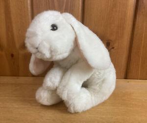 "Animal Alley Toys r Us 14"" White Plush Bunny Rabbit Easter Lifelike Beanie Bunny"
