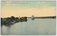 Bridges, Point Sheffield, St. John River NB New Brunswick Unused Postcard