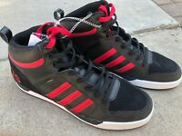 Mens Adidas Neo Raleigh 9TIS Mid Sneakers Black Red AW4305