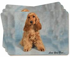 Gold Cocker Spaniel 'Love You Dad' Picture Placemats in Gift Box, DAD-185P