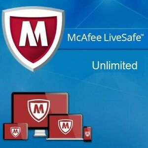 McAfee LiveSafe 2021 Unlimited Devices 1 Year DOWNLOAD 2020 AU