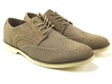 Hush Puppies New Wing Tip Brogue Tan Suede HMO 1350-252 Men Shoes US Sz 11 Wide