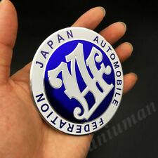 Metal Blue JAF Japan Automobile Federation JDM Car Trunk Emblem Badge Sticker