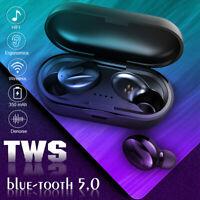 Bluetooth 5.0 Waterproof Headset TWS Wireless Earphones Earbuds Stereo Headphone
