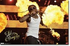 LIL WAYNE Poster  - Music Rap Full Size Print ~ Fire Live On Stage