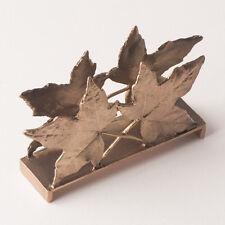 Sweet Gum Leaf Business Card Holder - Michael Michaud Table Art - Antique Bronze