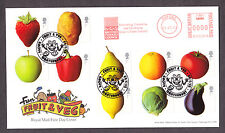 2003 FRUIT AND VEG SET OF 10 ON FDC WITH GROVE CANTERBURY SP/HS AND METER MARK