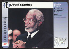 DAVID SATCHER U.S. Surgeon General Photo Bio 1998 GROLIER STORY OF AMERICA CARD