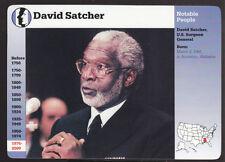 DAVID SATCHER U.S. Surgeon General Photo Bio 1998 GROLIER STORY OF AMERICA CARD