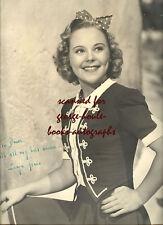 SONJA HENIE~10X13~VINTAGE~SIGNED~1937