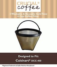 1 Washable Cuisinart GTF4 Gold Tone Coffee Filter Fits Cuisinart DCC-450