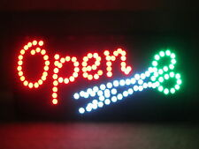 NEW Super Bright Motion LED Neon Open Sign Hair CUT Barber Shop Hair Salon COLOR