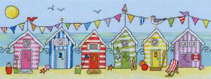 Bothy Threads Cross Stitch Kit - Beach Hut Fun