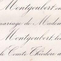 Marie De Maussion-Montgoubert 1867 Théodore De Vitrolles