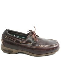 Dunham Mens Captain Boat Driving Shoes Size 10 D Dark Brown Leather MCN630BR