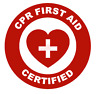 CPR First Aid Certified Emblem Vinyl Decal Window Sticker Car