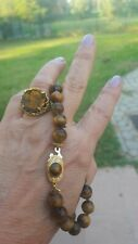collana occhio tigre susta chiusura oro 18kt tiger eye gold clasp short necklace