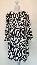 STAR By JULIEN MCDONALD Black Shift Dress Animal Print Career Party Size 16