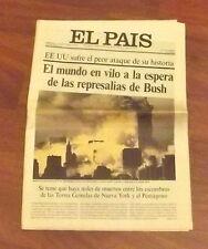TORRI GEMELLE - TWIN TOWERS - NUEVA YORK - EL PAIS 12 settembre 2001