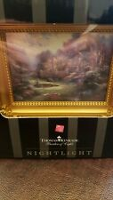 """Thomas Kinkade Night Light """"Gardens Beyond Spring Gate� brand new"""