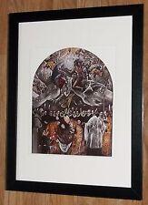 """Incorniciato 12"""" x16"""", El Greco, conteggio Orgaz, i comandanti dipinti, BIBBIA DIPINTI"""