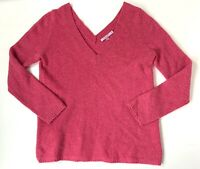 Calypso St Barth Womens Sweater Deep Double V Neck Pink Cashmere Top Size XS