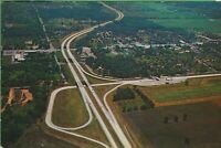 Vintage Antique  Postcard Indiana IN Toll Roads Aerial South Bend