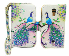 Purple & Pink Peacock Wallet Leather Case for LG Access LTE L31G / F70 4G D315