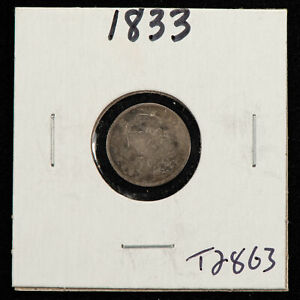 1833 H10c Capped Bust Silver Half Dime - Value Coin - SKU-T2863