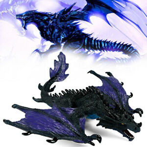 Black Dragon Action Figure Realistic Jurassic Monster Toy Fantasy Creatures Gift