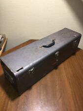 "Large 30"" Vintage Craftsman Carpenters Saw Box Woodworker Steel Tool Box Tray"