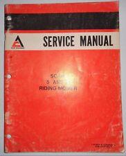 Allis Chalmers 5 & 8 Scamp Riding Mower Service Shop Repair Manual  Original! ac
