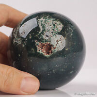 466g 70mm Large Natural Ocean Jasper Quartz Crystal Sphere Healing Ball Chakra