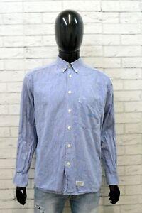 Camicia Uomo Levi's Taglia L Camicetta Celeste Maglia Estate Men's Shirt Casual