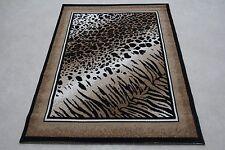 Quality Leopard Multi Print Rug 115cm x 160cm Jungle Safari Animal Print Twist