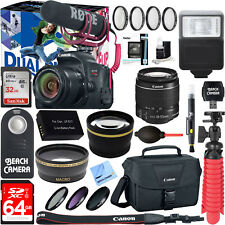 Canon EOS Rebel T7i DSLR Camera Video Creator Kit + 18-55mm Lens Bundle