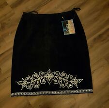 CRIPPLE CREEK - WESTERN WEAR - WOMEN'S LEATHER SKIRT -SIZE SMALL - NEW WITH TAGS