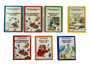 BUSY DAY STORY BOOKS x 7 Richard Scarry  1997 Hardcover Vintage Busy Town