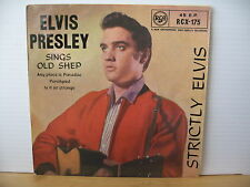 "ELVIS PRESLEY Strictly Elvis '59 UK RCA RECORDS 7"" VINYL EP RCX-175 Free UK Post"
