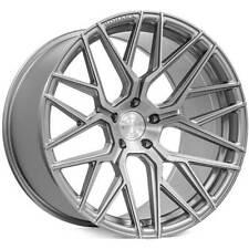 "4ea 19"" Staggered Rohana Wheels RFX10 Brushed Titanium Rims(S11)"