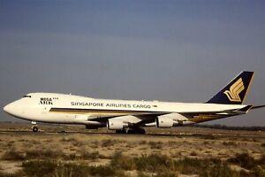 Original 35mm Colour Slide of Singapore Airlines Cargo Boeing 747-412F 9V-SFE