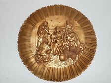 "12"" Christmas Nativity Wall Hanging Plaque Decor Gold"