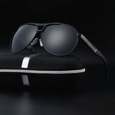 Polarized Sunglasses Men's Retro Pilot Metal Outdoor Drving Eyewear Glasses