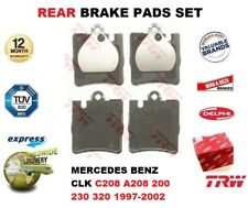 FOR MERCEDES BENZ CLK C208 A208 200 230 320 1997-2002 REAR AXLE BRAKE PADS SET